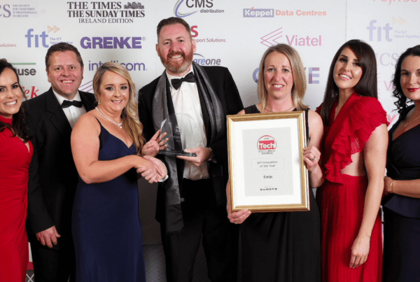 Evros Technology Group broke new ground last night, winning the IoT Innovation award at last night's Tech Excellence Awards.