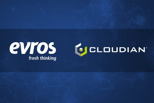 evros and cloudian logos to show business partnership