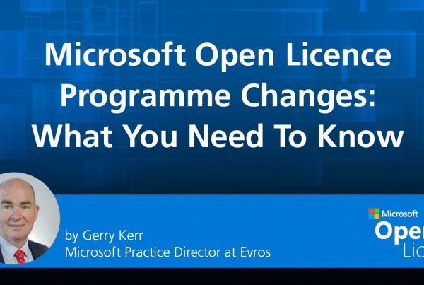 Microsoft Open License changes gerry kerr
